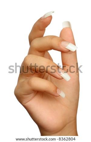 Manicure, isolated on white - stock photo