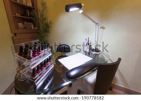 Manicure salon interior - stock photo
