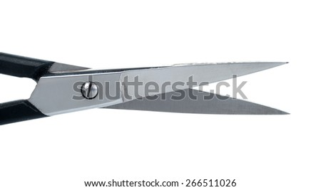 Manicure scissors with black handles - stock photo