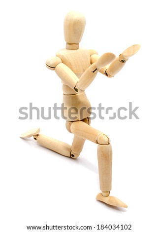 Manikin isolated on white background