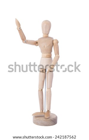 Manikin Mannequin Human Artist Drawing Model as an aid in drawing draped figures. - stock photo