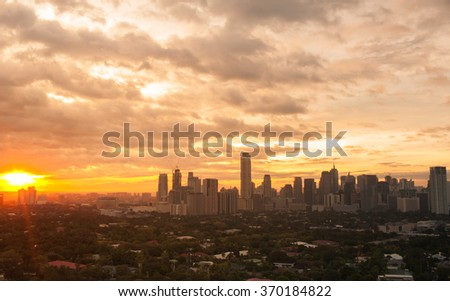Manila city, Philippines - stock photo