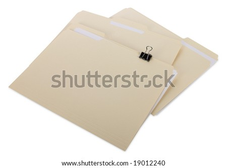 Manila file Folders with clipping path