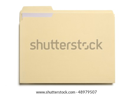 Manila folder with some documents in it. - stock photo