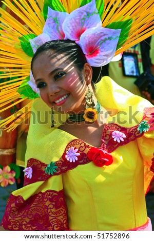 MANILA, PHILIPPINES 24:Aliwan Festival, a yearly parade that features the cultural festivals that could be found in the country, this year's main event was held on April 24, 2010 Manila, Philippines. - stock photo