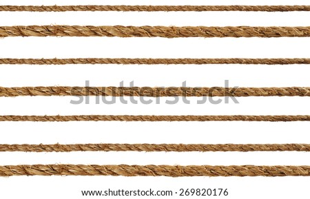 Manila rope on a white background - stock photo