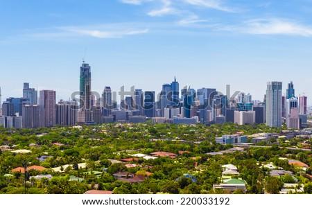 Manila skyline, Philippines - stock photo