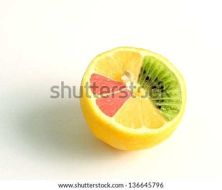manipulated lemon - stock photo