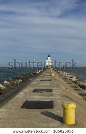 Manitowoc Breakwater Lighthouse - stock photo