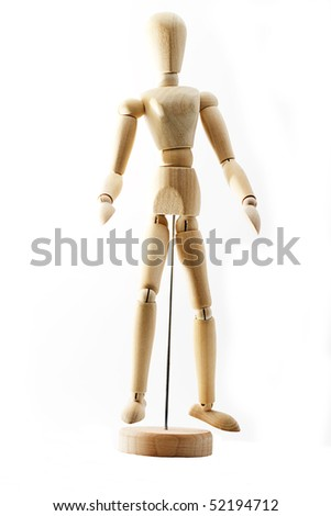 Mannequin for artists on white background