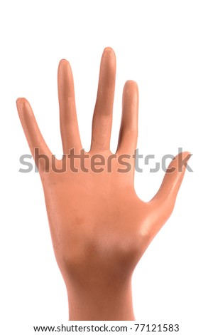 Mannequin hand isolated