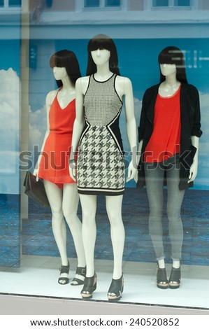 mannequin in a showroom - stock photo