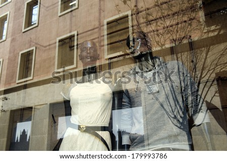 mannequin in shopping mall - stock photo
