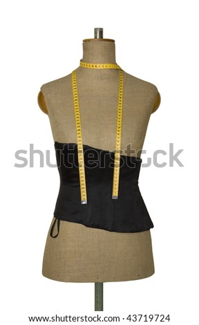 Mannequin torso with clipping path - stock photo