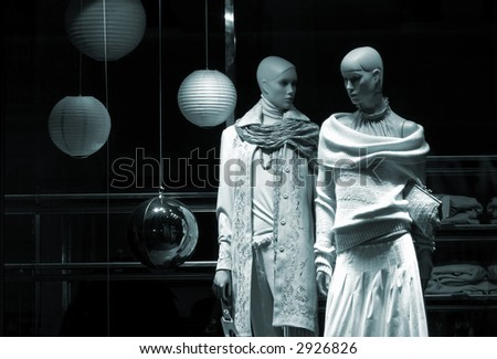 mannequins - stock photo