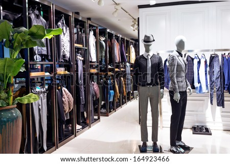 mannequins in fashionable dresses