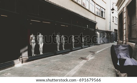 Mannequins in shop
