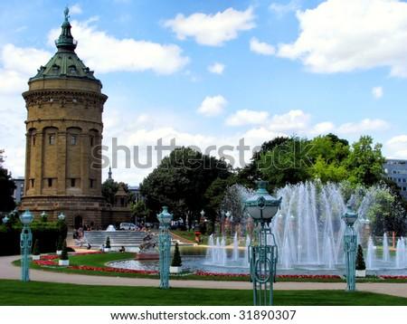 Mannheim Watertower - stock photo