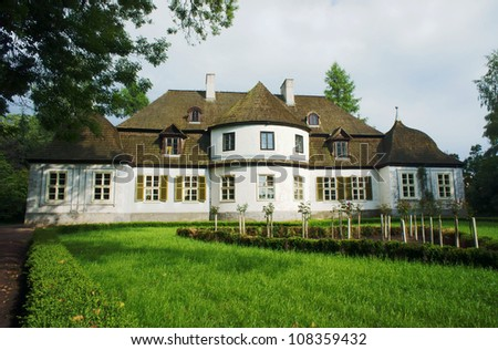 manor house - museum in village, Poland