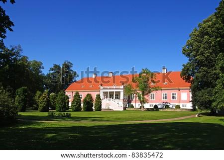 Manor in the north of Estonia. 18 century. Sagadi. - stock photo