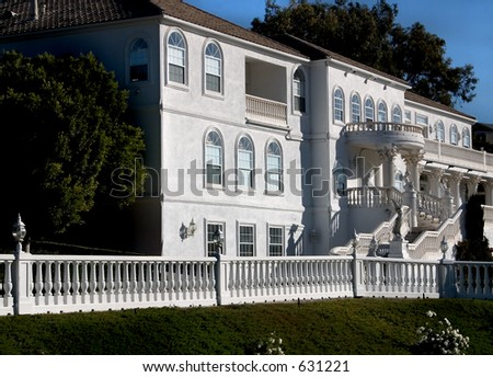 Mansion on the corner - stock photo