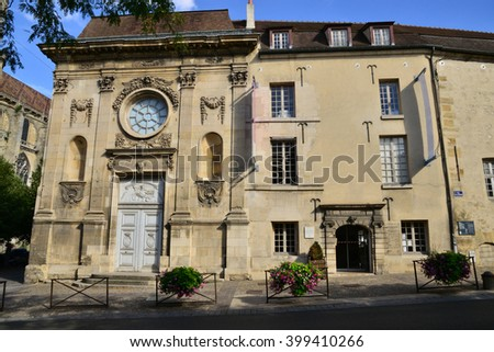 Mantes la Jolie, France - august 12 2015 : The Hotel Dieu museum