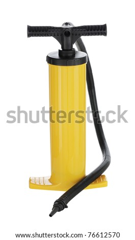 Manual air pump for inflating airbeds, beach balls etc. - stock photo