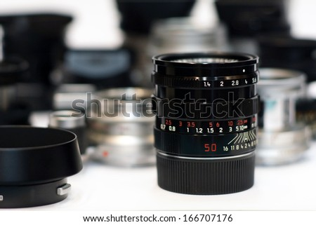 Manual focus lens, Obviously shallow. - stock photo