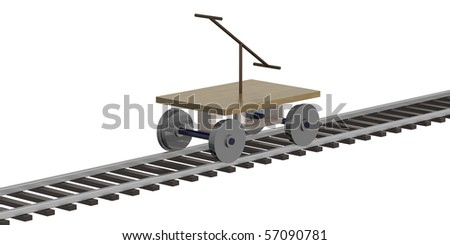 Manual rail vehicle for two - stock photo