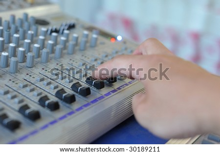 Manually controlled tuner - stock photo