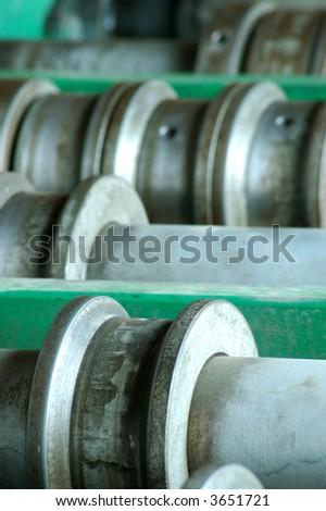 manufactory- metal machinery - stock photo