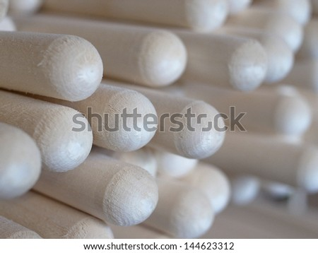Manufacture background with wooden sticks