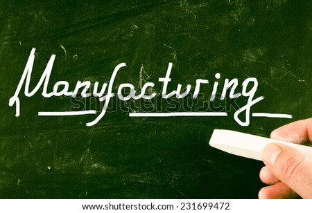 manufacturing concept - stock photo