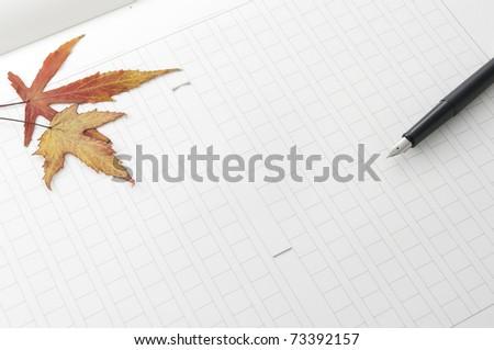 manuscript - stock photo