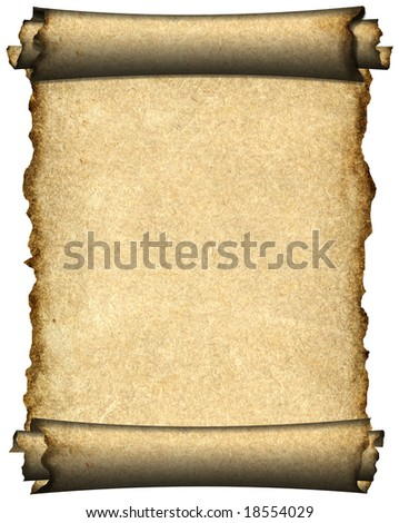 Manuscript, aged scroll grunge paper background