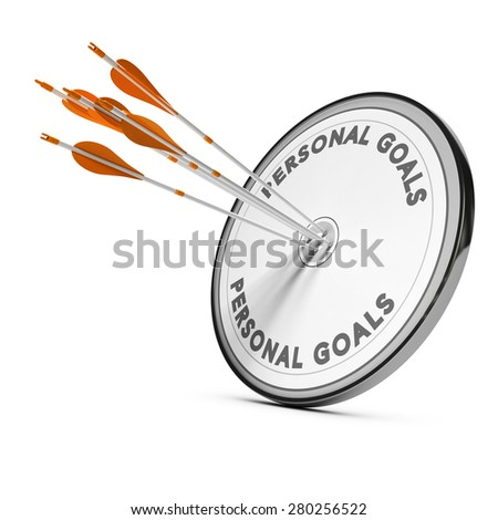 Many arrows hitting the same target, Concept image for business personal goals or self confidence coaching. - stock photo