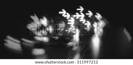 many arrows indicates the direction abstract blur background