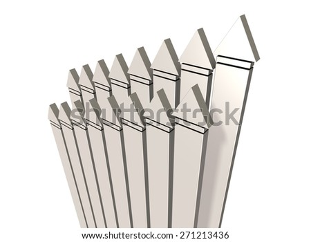 many arrows,rising,isolated, computer generated image, - stock photo