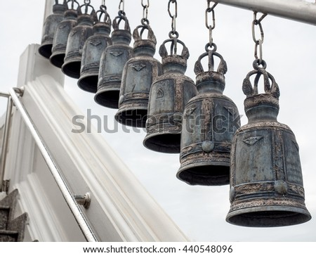 many bells hanging
