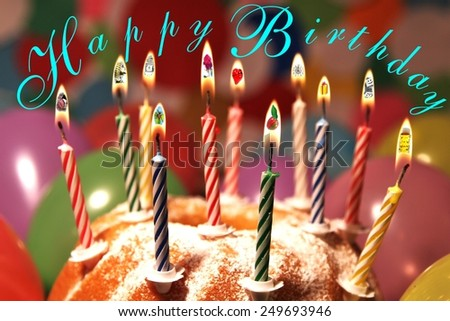 many birthday wishes  - stock photo
