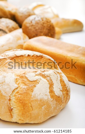 many bread - stock photo