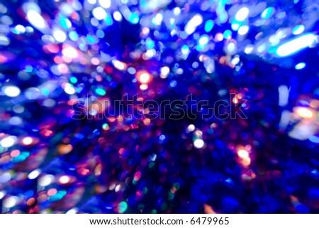many bright blurred  lights - stock photo