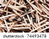 Many burned matches in random spread for background - stock photo