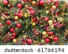 many christmas balls make a colorful picture - stock photo