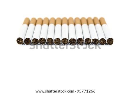 many cigarettes - stock photo