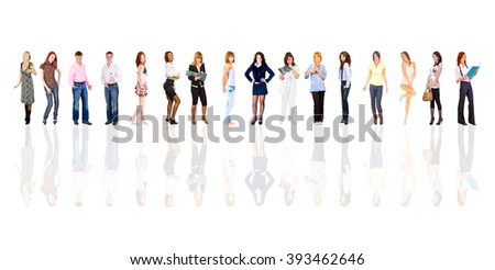 Many Colleagues Standing Together  - stock photo