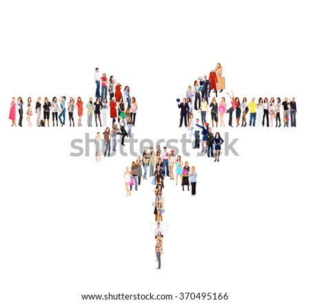 Many Colleagues Workforce Concept  - stock photo