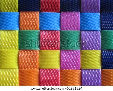 Many color basket - stock photo