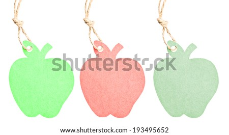 many color of tag isolated on white background, clipping path - stock photo