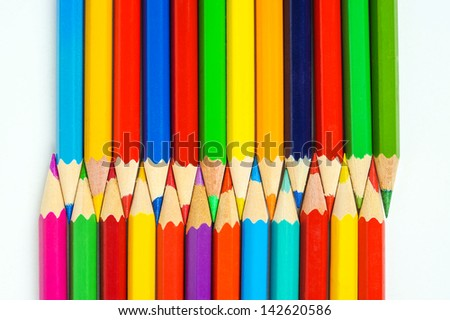 many colored crayons tips